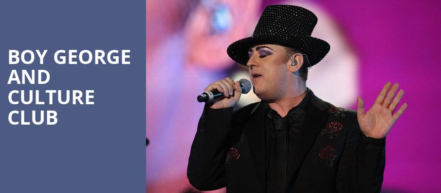 Boy George and Culture Club, Artpark Amphitheatre, Buffalo